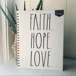 RAE DUNN Faith Hope Love Spiral Notebook